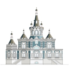 Orthodox church facade vector