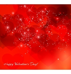 valentines day vintage lettering background vector image