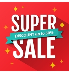 Super sale inscription banner design template vector