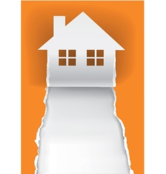 House for sale advertisment template vector