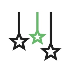 Hanging stars vector