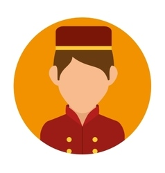 Hotel worker design vector