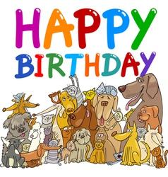 Happy birthday anniversary card vector