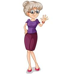 A teacher with an eyeglass vector image vector image