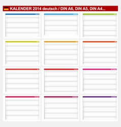 Calendar 2014 german type 5b vector