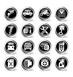 car shop icon set vector image vector image