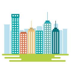 city buildings design vector image vector image