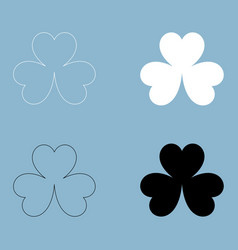 Clover the black and white color icon vector