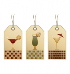 cocktail tags vector image vector image