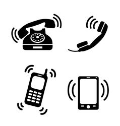Collection of ringing phones vector image