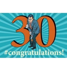 Congratulations 30 anniversary event celebration vector image vector image
