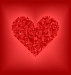 Diamond red heart vector