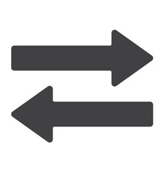 direction arrows glyph icon web and mobile vector image vector image