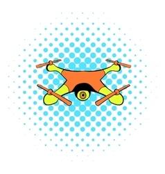 Drone icon comics style vector image