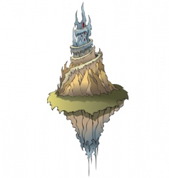 fairy castle on flying island vector image