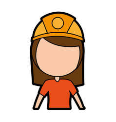 Female miner avatar character vector