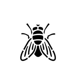 Fly stencil icon vector image vector image