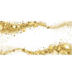 frame of golden sparkling stars vector image vector image