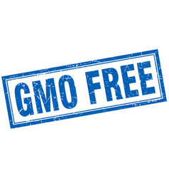 Gmo free square stamp vector