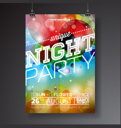 Night party flyer design vector