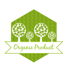 Organic food fresh nutrition emblem vector