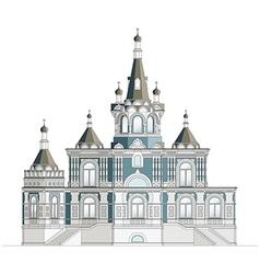 Orthodox church facade vector