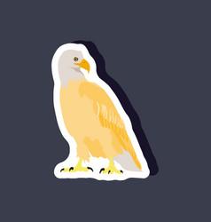 paper sticker on stylish background eagle vector image