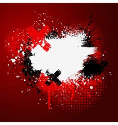 red paint splatter vector image vector image