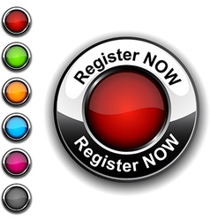 Register now button vector image vector image