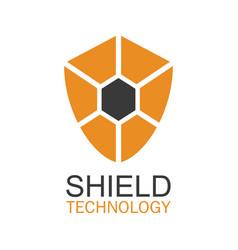 shield technology logo vector image