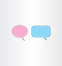 Speech thought bubble frames vector