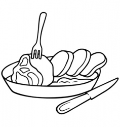 square meal vector image