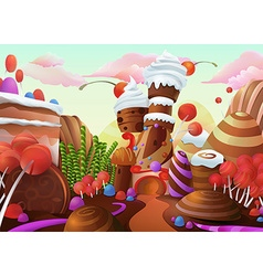 Sweet background vector image vector image