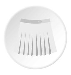 Tennis female skirt icon circle vector