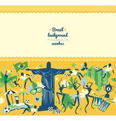 traditional Brazilian items vector image