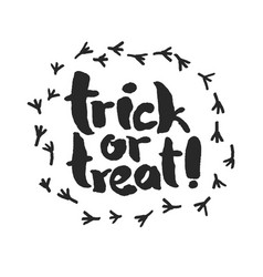 Trick or treat with raven traces vector