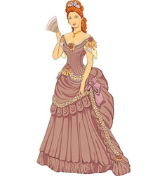 Victorian fashioned lady vector image