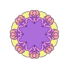 Violet circle mandala vector