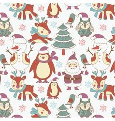 winter xmas print vector image vector image