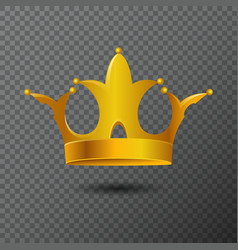 with golden crown icon vector image