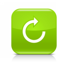 Green arrow repeat reload refresh rotation icon vector