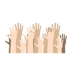 Hands human up democracy ison vector