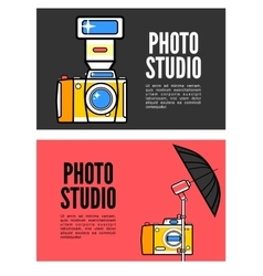 Photography banner set with photo elements vector
