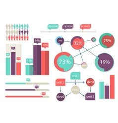 Bright infographics elements vector