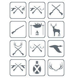 Set of hunting club logo icon vector