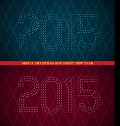 2015 Merry Christmas and happy new year vector image