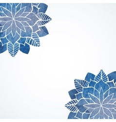Watercolor flower blue pattern vector image