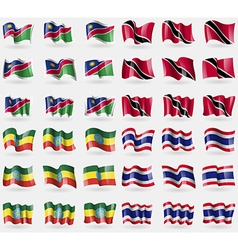 Namibia trinidad and tobago ethiopia thailand set vector