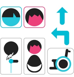 Icon toilet symbol sign vector