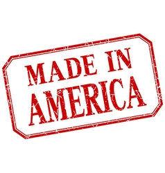 America - made in red vintage isolated label vector